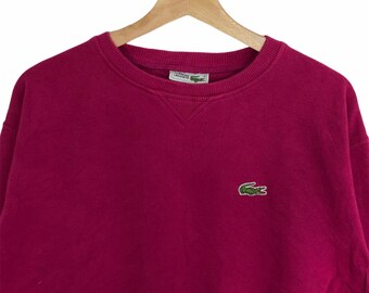 Chemise Lacoste Sweatshirts Small Green Vintage 90s Chemise Lacoste Sportswear Lacoste Pullover Sweater Size S