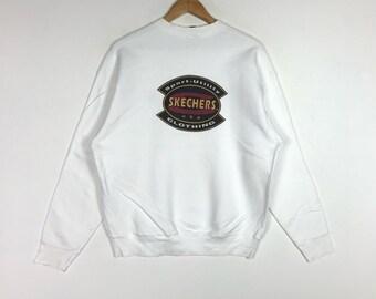1c27304da6c930 Sport-Utility SKECHERS USA CLOTHING Printed Big Logo Skechers Usa Outfits  White Crew Neck Sweatshirt Unisex Clothing Size Large