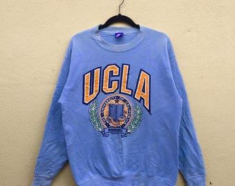 Vintage 90 s Ucla Bruins University Of California Big Logo Pullover  Sweatshirt Crew Neck Unisex Size Large 750d383d7