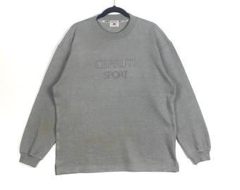 b922d69d03c CERRUTI 1881 SPORT By Nino Cerruti Embroidery Spell Out Italian Designer  Crew Neck Sweatshirt Cerruti Sport Clothing Size Large