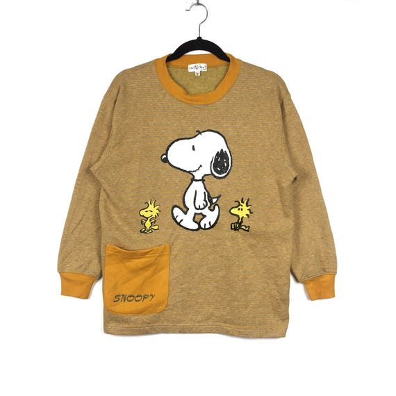 Rare!!PEANUTS SNOOPY Printed Big Logo Spell Out Sn