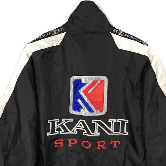 Rare Side Tape Size Black Hop Hip Windbreaker Fashion Zipper Sport Logo SPORT Large Clothing Big Kani KARL KANI Embroidery Karl rqwg1xr7f