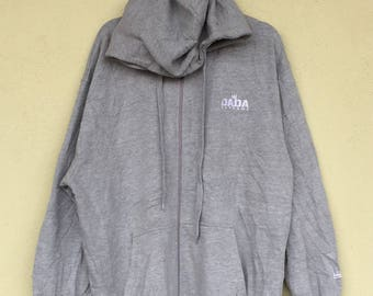 Pullover Gray Hoodie DADA SUPREME Embroidery Spell Out Small Logo Basic  Hoodies Dada Supreme Unisex Clothing Oversize