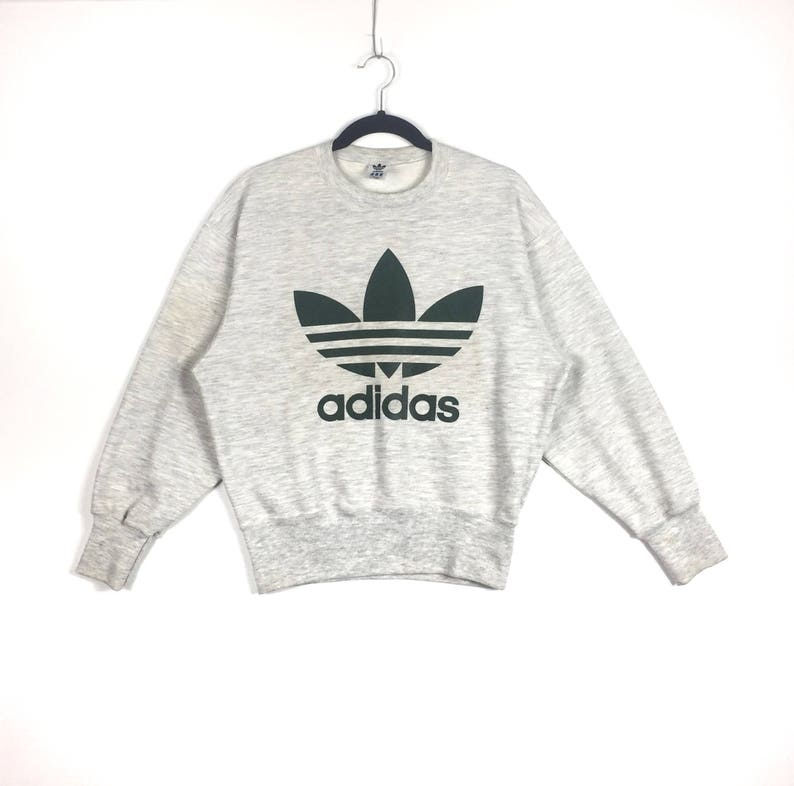 fdc1aa5e23c97 Vintage!!ADIDAS TREFOIL Big Logo Crew Neck Sweatshirt Adidas Sport Fashion  Clothing Size Medium
