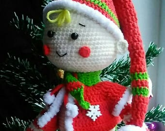 Christmas Crochet elf pattern Crochet gnome pattern Amigurumi elf pattern Christmas gnome pattern Christmas toy pattern