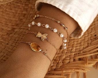 Wax cord Bracelet Boho Fish Bracelet Gold Fish Bracelet Handcrafted Bracelet Little Fish Bracelet Sterling Silver Gold Filled Bracelet