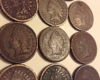 seller/'s # 657 w// LIBERTY 1907 Indian Head Cent Feathers /& Great Detail!