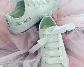 dab2bf10a06c Personalised crystal converse. SparkleManiaBoutique