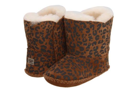 baby leopard print crib ugg boots | etsy