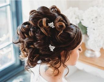 Bridal Hair Accessory, Wedding Hair Accessory, Swarovski Crystal Hair Pin, Diamante Hair Vine (Clara Medium Hair Pin)