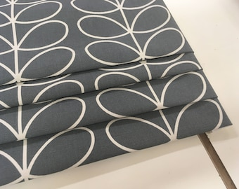 Roman blinds made to measure, Orla Kiely linear Stem, charcoal grey