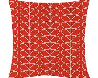 Orla Kiely Linear Stem in tomato cushion covers