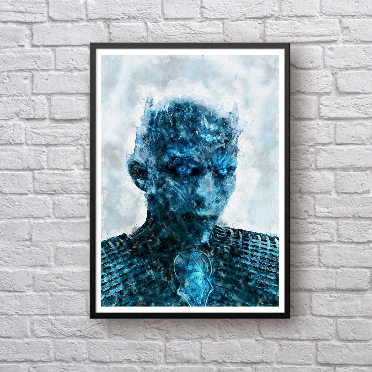Night King Poster Game Of Thrones Print White Walkers