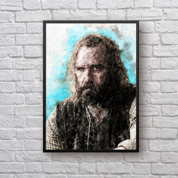 Sandor Clegane Poster, Game of Thrones Print, The Hound, Rory McCann, House Stark Winter is Coming TV Show Art Man Cave Kids Room Wall Decor