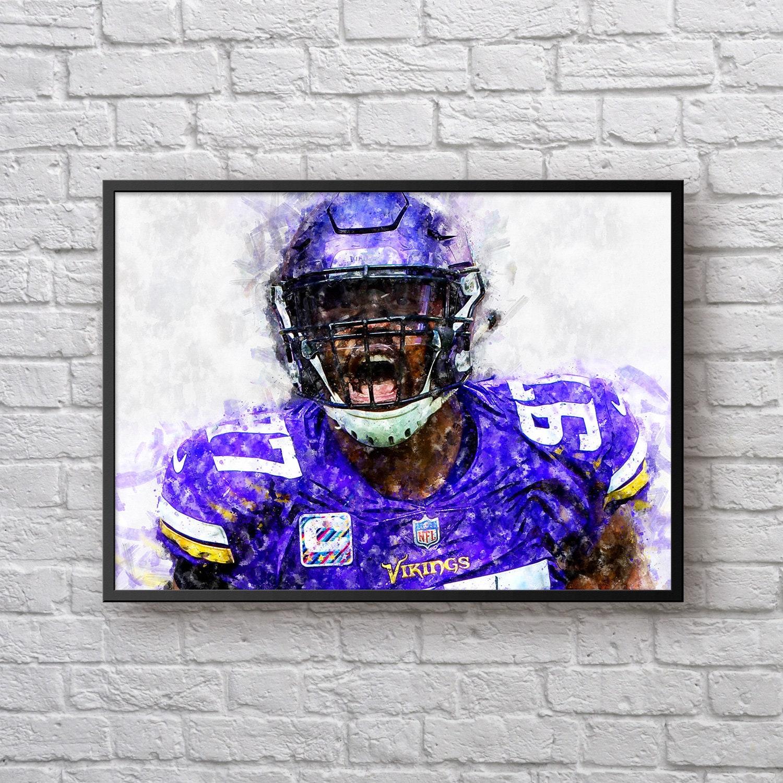 7f3a7b09d Everson Griffen Poster Minnesota Vikings Decor Vikings | Etsy