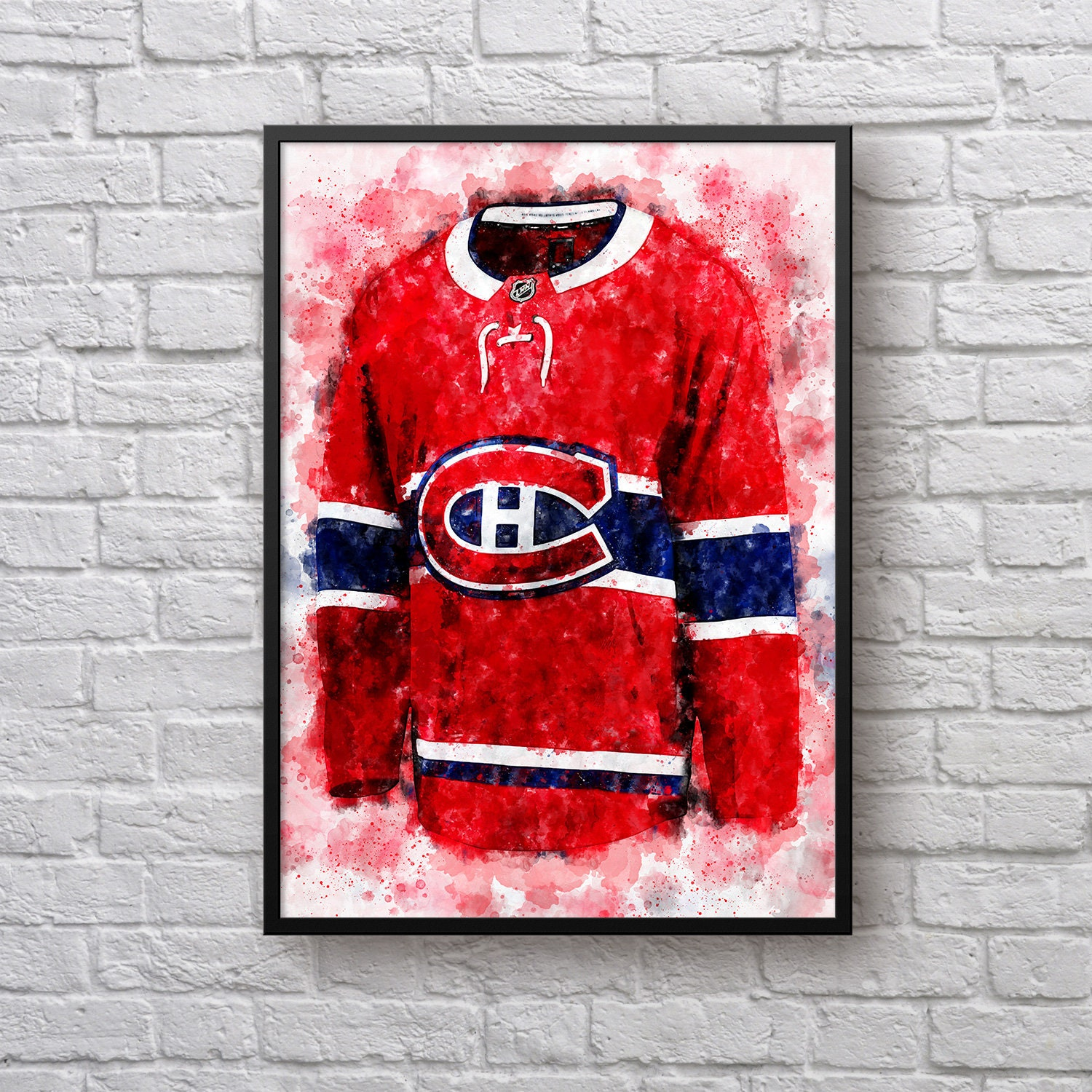 Montreal Canadiens Jersey Poster Canadiens Hockey Home
