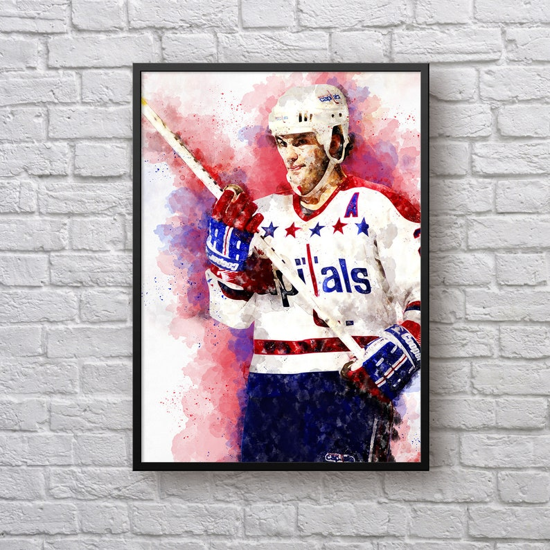 sale retailer 0ce29 9468a Dino Ciccarelli Poster, Gift for Washington Fan, Capitals Room Decor, Gift  for Men, Ice Hockey Fan Gift, NHL Player Art Print