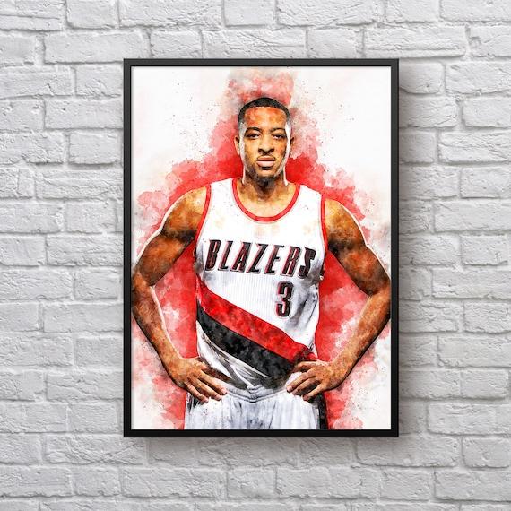 Blazers Portland Posters: C. J. McCollum Poster Gift For Portland Trail Blazers Fan