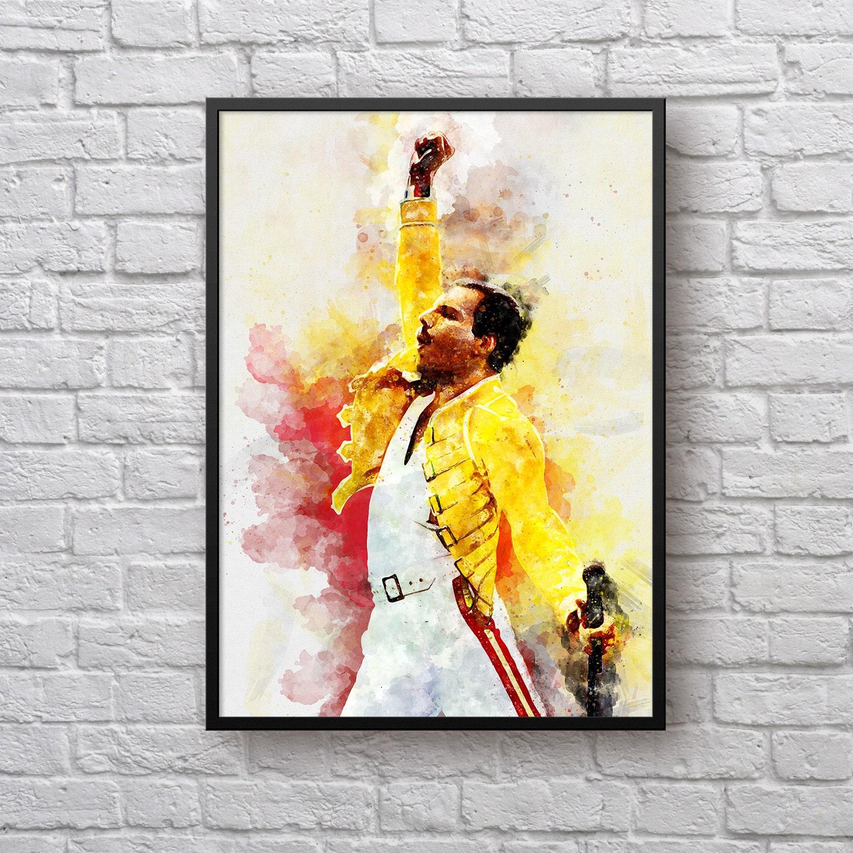 Freddie Mercury Art Print, Queen Band Poster, Gift for Freddie ...