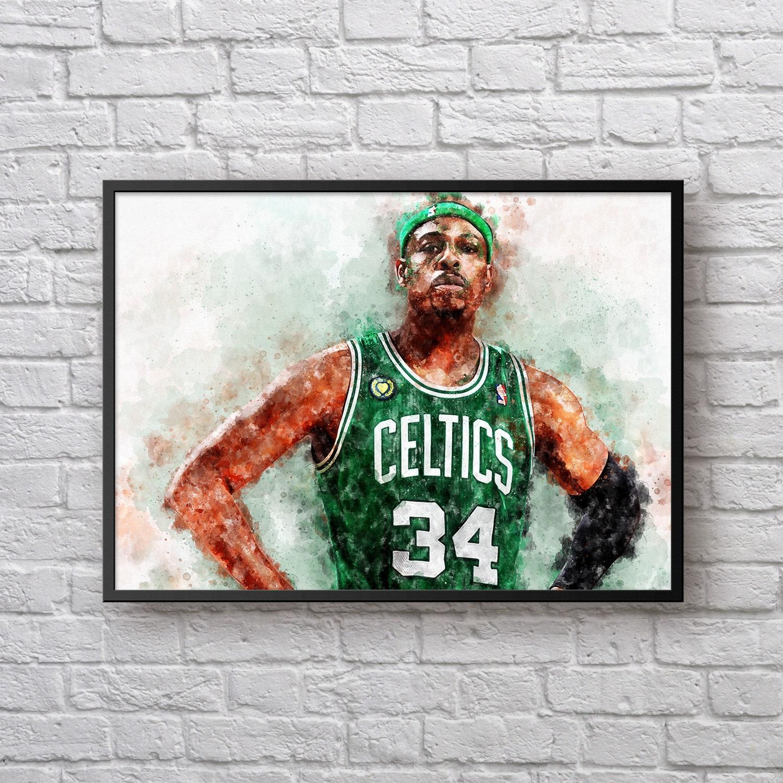 huge selection of f6fff 52540 Paul Pierce Poster, Gift for Boston Celtics Fan, Celtics Room Decor,  Basketball Fan Gift, NBA Sports Art Print