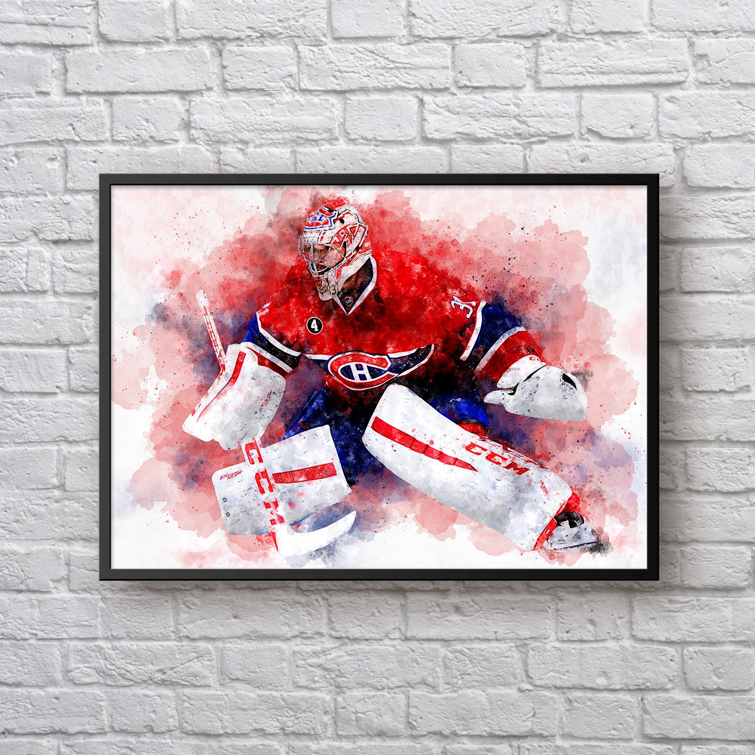 Carey Price Poster Canadiens Room Decor Gift For Montreal