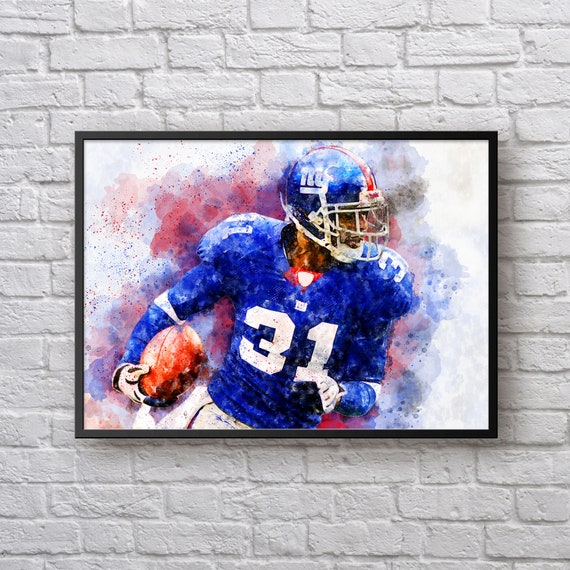 Aaron Ross Print, Gift for New York Giants Fan, American Football Fan Gift, Giants Home Decor, Sports Art, Kids Room Man Cave Wall Art
