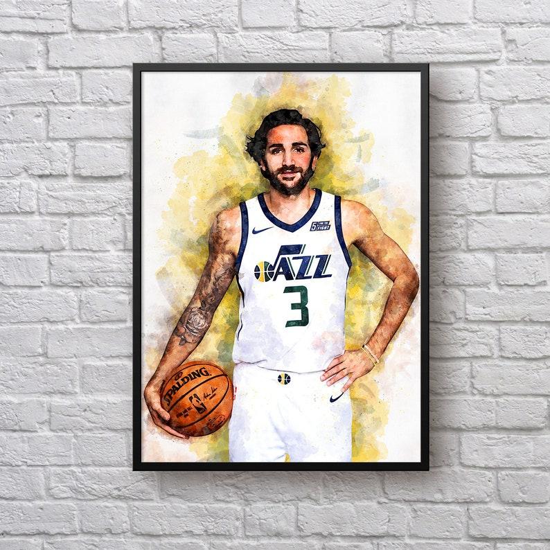 the best attitude 21e8a a4b5f Ricky Rubio Poster, Gift for Utah Jazz Fan, Utah Jazz Room Decor,  Basketball Fan Gift, Gift for Men, NBA Sports Art Print