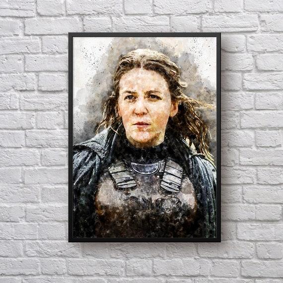 Yara Greyjoy Poster, Game of Thrones Print, GoT Fan Gift, House Greyjoy, Gemma Whelan, We Do Not Saw, Stark TV Show Man Cave Kids Room Decor