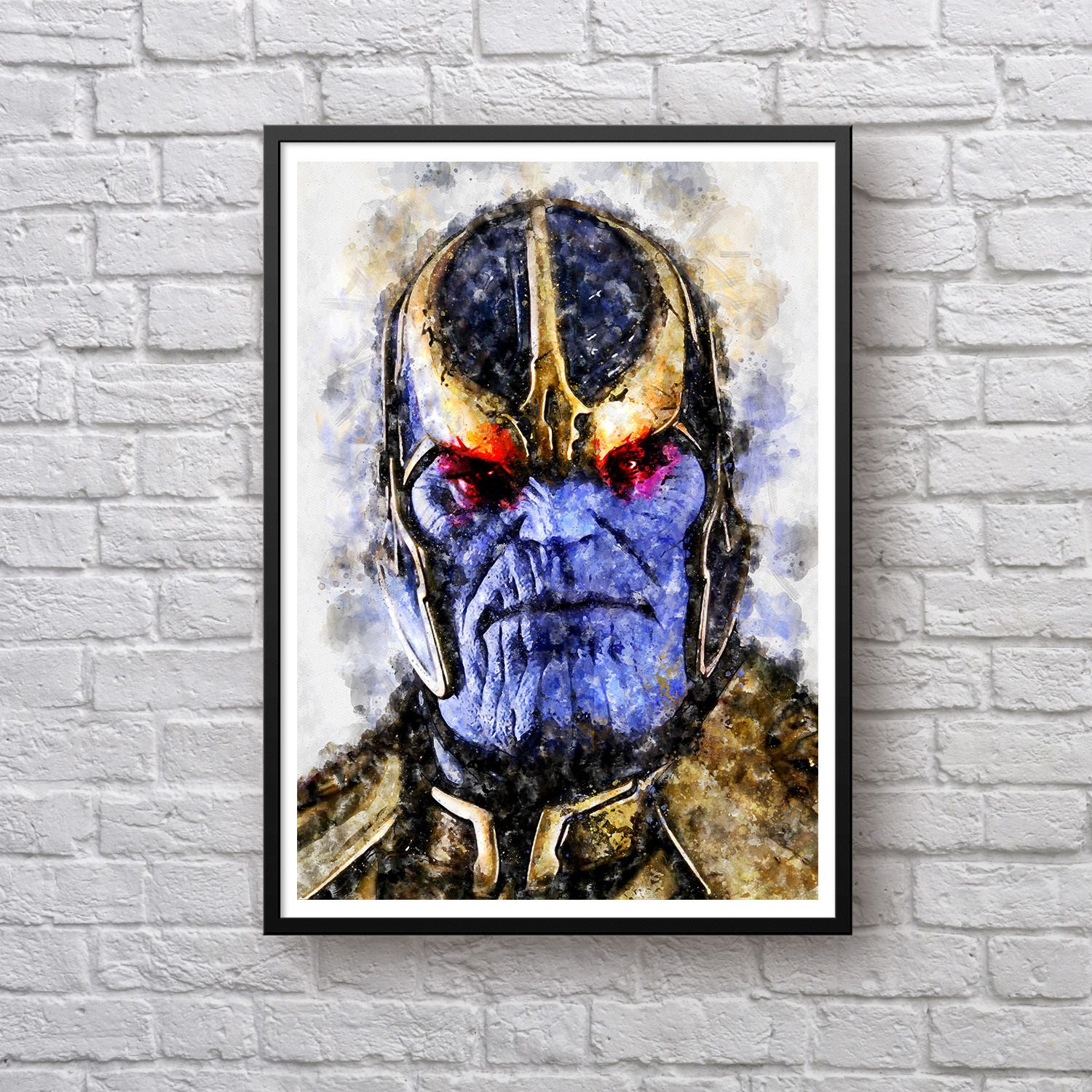 Avengers Watercolor: Thanos Watercolor Print Avengers Infinity War Poster