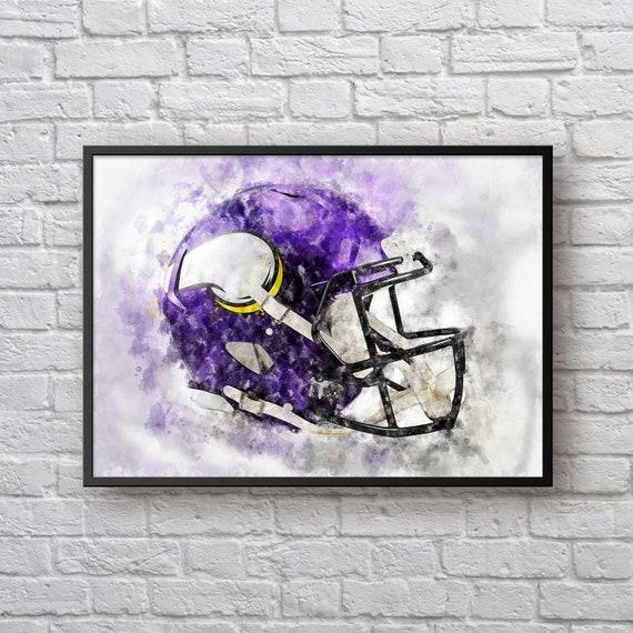 Minnesota Vikings Helmet Painting MN Vikings Football Art  7d5c939ed