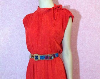 Vintage red dress/Made in France