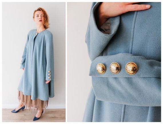Vintage coat Vintage cape coat Wool coat Woman's c