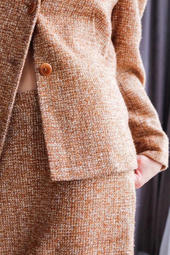 Vintage women's tweed skirt suit / Woolen skirt s… - image 8
