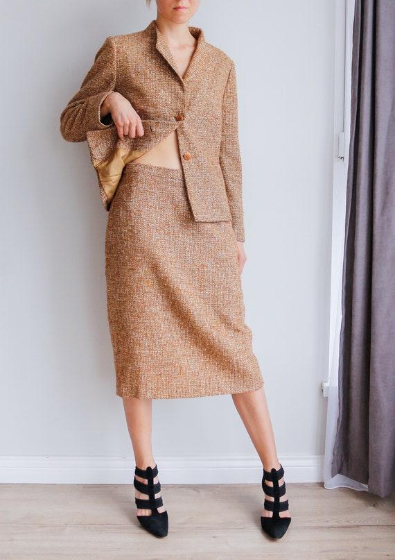 Vintage women's tweed skirt suit / Woolen skirt s… - image 3