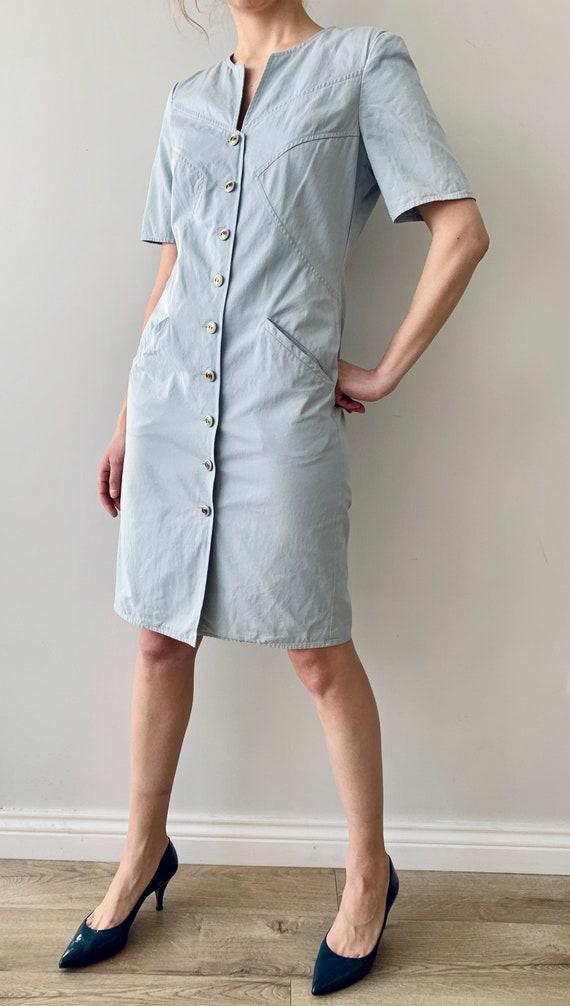Vintage dress Shirt dress Valentino Cotton dress … - image 9