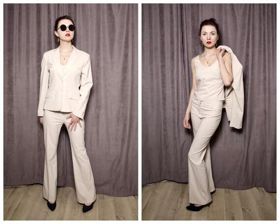 Vintage pants suit woman's Three piece suit Vintag