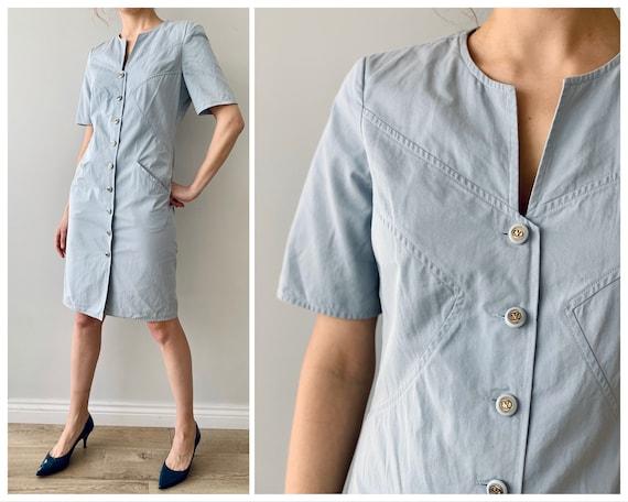 Vintage dress Shirt dress Valentino Cotton dress … - image 4