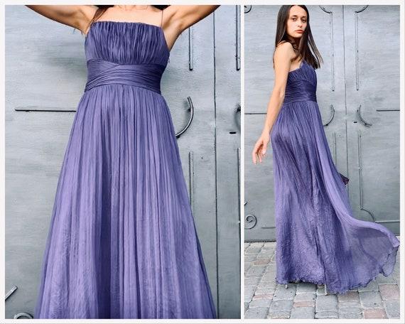 Vintage dress Vintage silk dress 100% silk Maxi dr