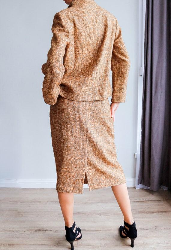 Vintage women's tweed skirt suit / Woolen skirt s… - image 4