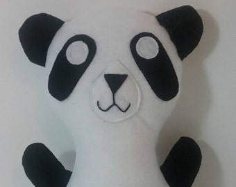 Panda Bear Felt Plush Eco Friendly Stuffed Animal