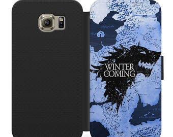 Game of thrones house stark westeros map flip wallet phone case for iphone 4 5 6 7, Samsung s2 s3 s4 s5 s6 s7 s8 S9 S9 plus