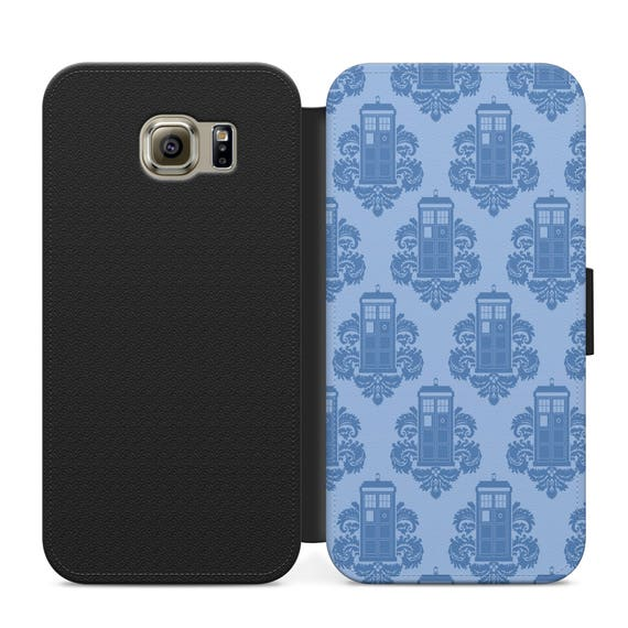 Tardis Wallpaper Iphone: Vintage Tardis Wallpaper Doctor Who PSU Leather Flip