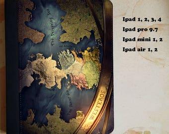 Game of thrones Westeros map PSU leather flip case for the ipad 1, 2, 3, 4, 5 ipad pro 9.7 ipad mini 1, 2 ipad air 1, 2