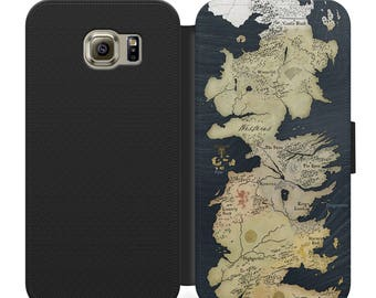 Game of thrones westeros map flip wallet phone case for iphone 4 5 6 7, Samsung s2 s3 s4 s5 s6 s7 s8 S9 S9 plus