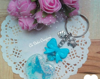 Heart Key Chain Handmade whale