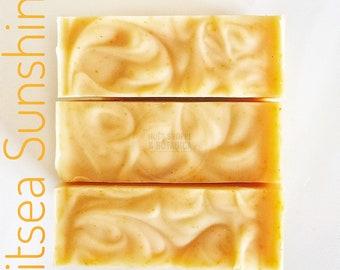 LAVENDER-LISTEA-ORANGE Shea Butter Soap | All natural vegan shea butter soap with Lavender and Citrus Essential Oils - Artisan Citrus Soap