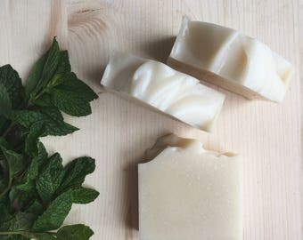 peppermint + tea tree soap