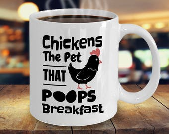 Chicken Mug Without Chickens There Would Be Nothing But Darkness and Chaos