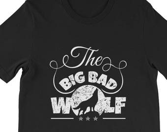 The Big Bad Wolf Graphic T-shirt - Big Bad Wolf Apparel - Wolf Lovers Gift - Big Bad Wolf Printed Tee