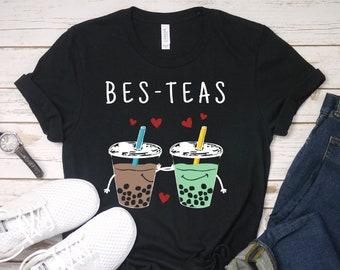 fc8c2cf6 Bes Teas Unisex T-Shirt - Besties - Best Friends - Bubble Tea - Cute Boba  Tshirt - Boba Bubble Milk Tea T Shirt - Asian Tapioca Tee Shirt